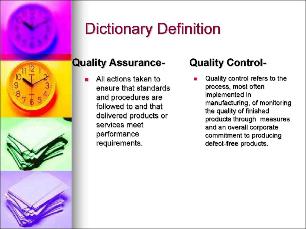 quality assurance vs quality control. (chapter 5) - online presentation