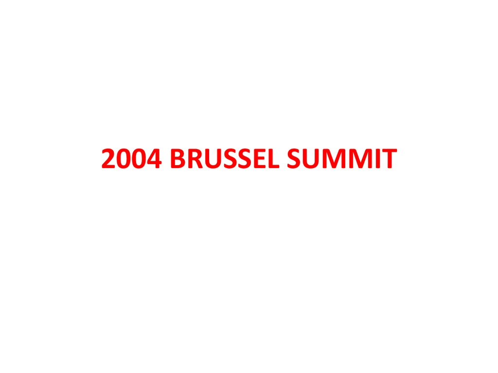 2004 BRUSSEL SUMMIT