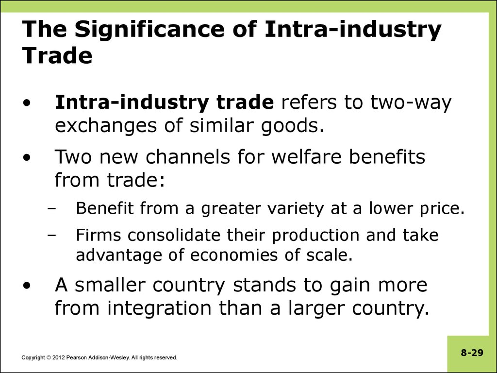 The Significance of Intra-industry Trade