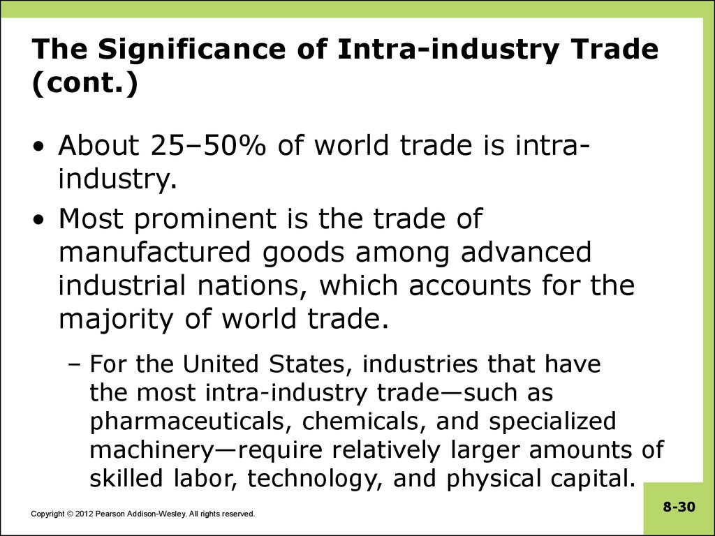 The Significance of Intra-industry Trade (cont.)