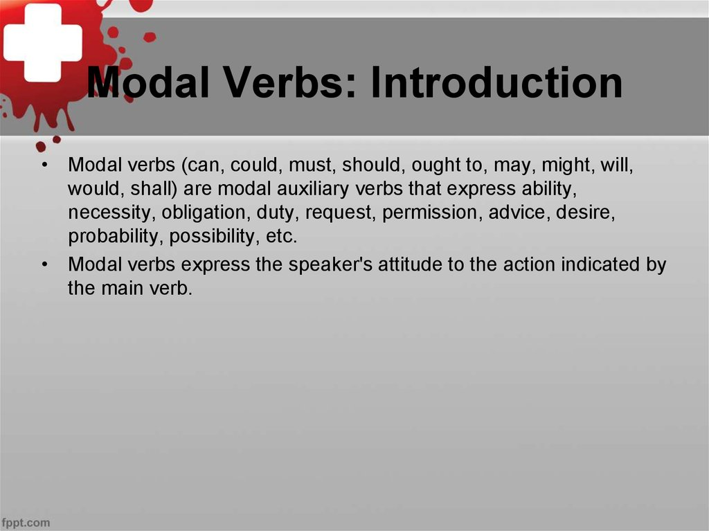 Modal Verbs: Introduction