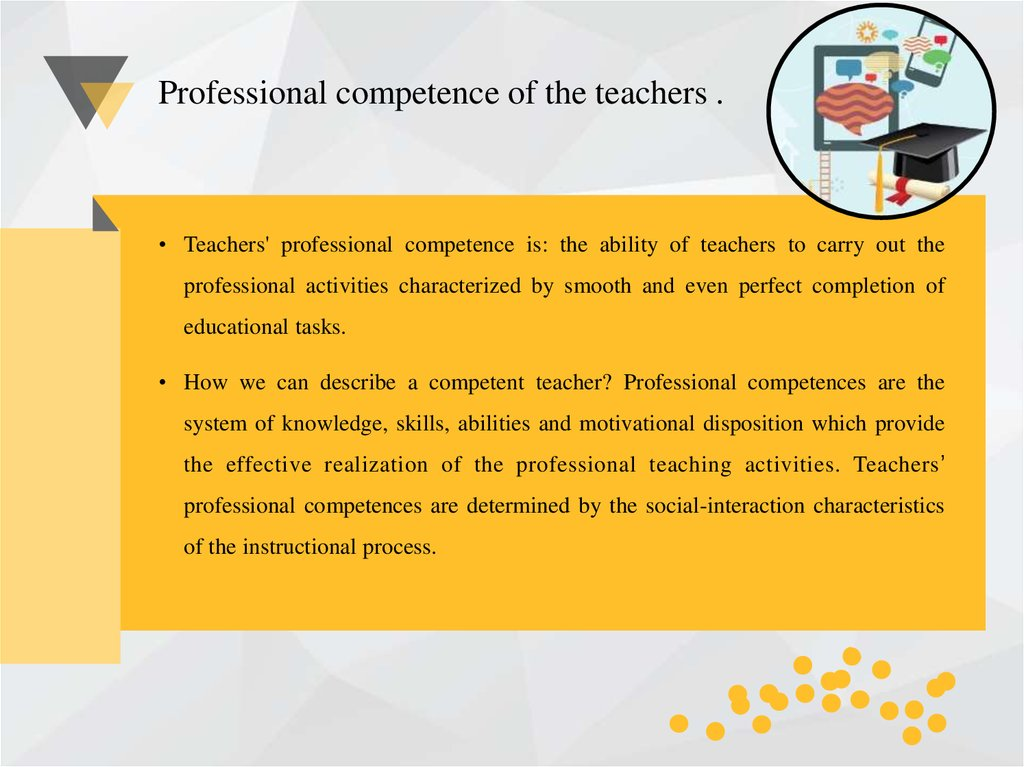 Professional and communicative competence of the teachers of