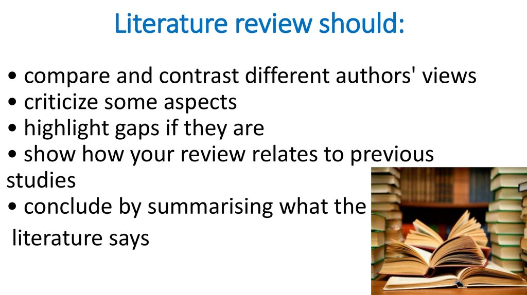 literature revie How can the answer be improved.