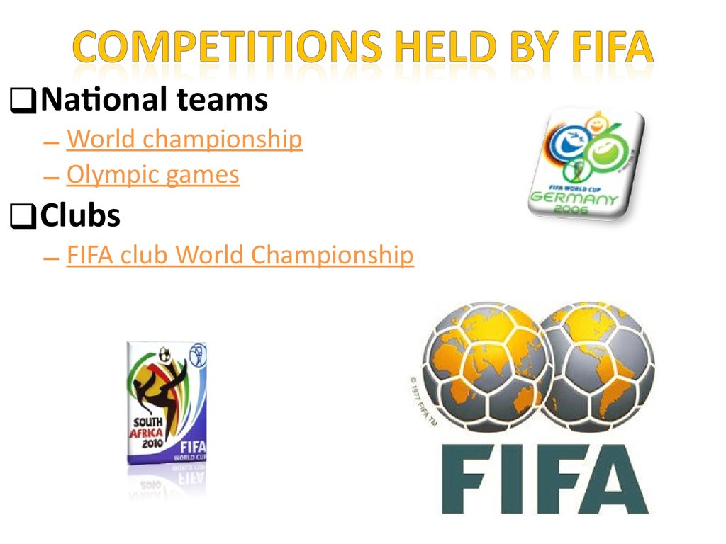 Competitions held by FIFA