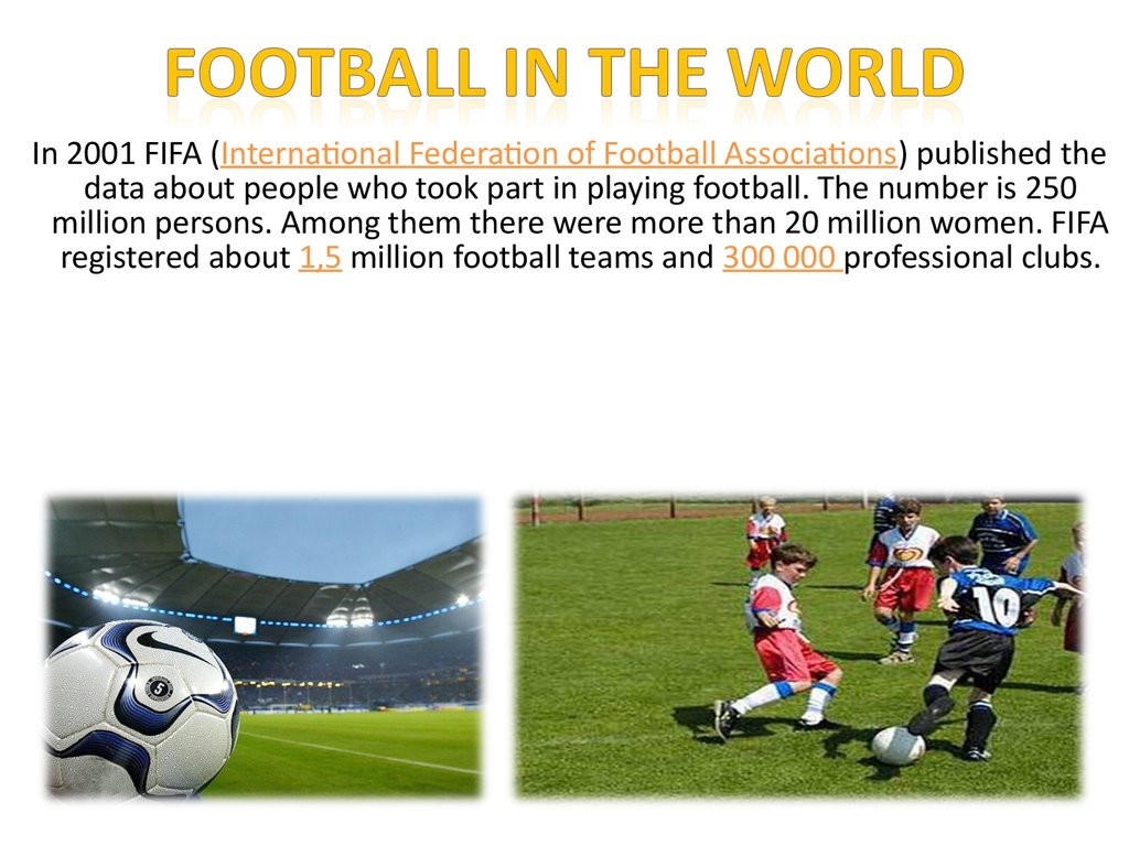 Football in the world