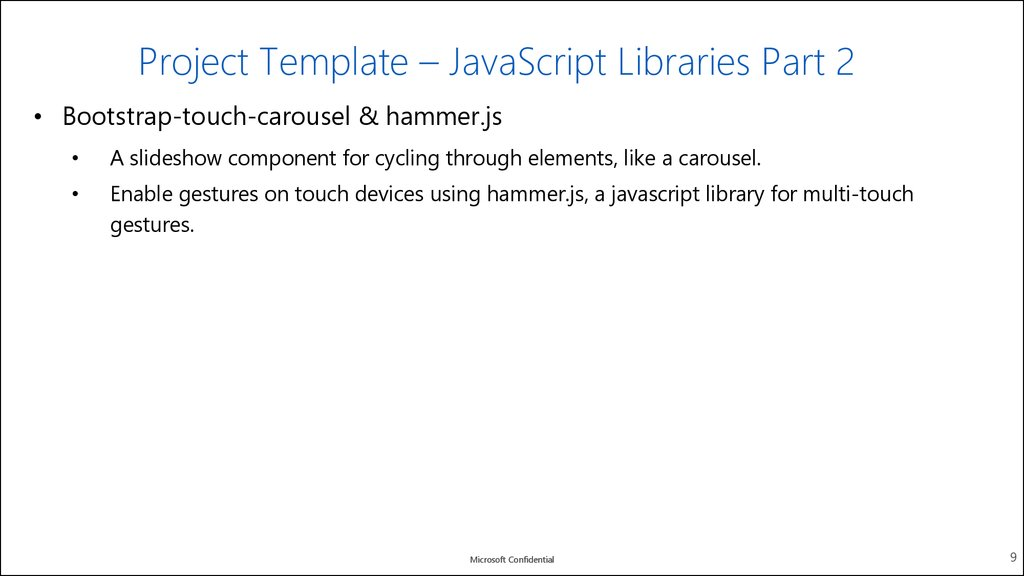 Project Template – JavaScript Libraries Part 1