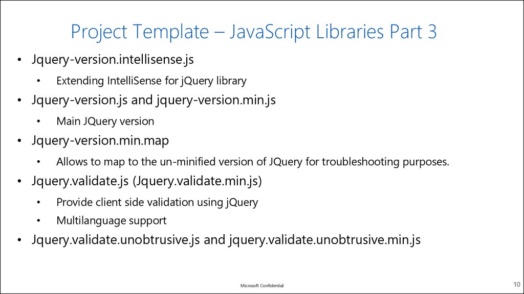 Project Template – JavaScript Libraries Part 2