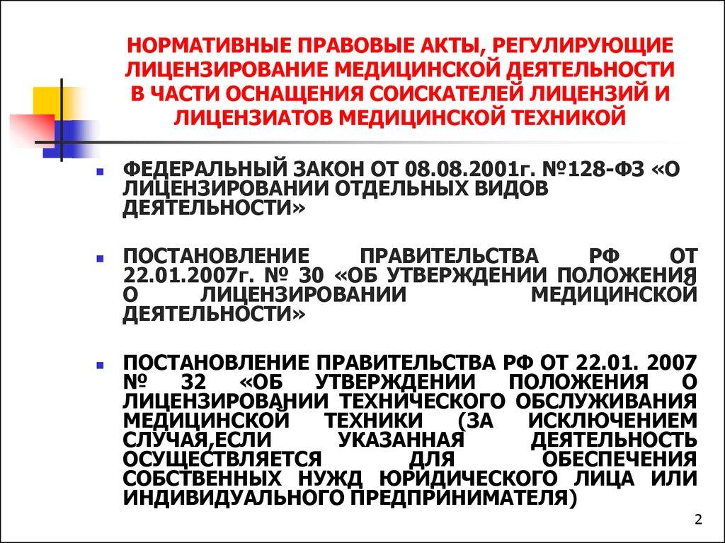 шок О лицензировании отдельных видов медицинской деятельности над ней