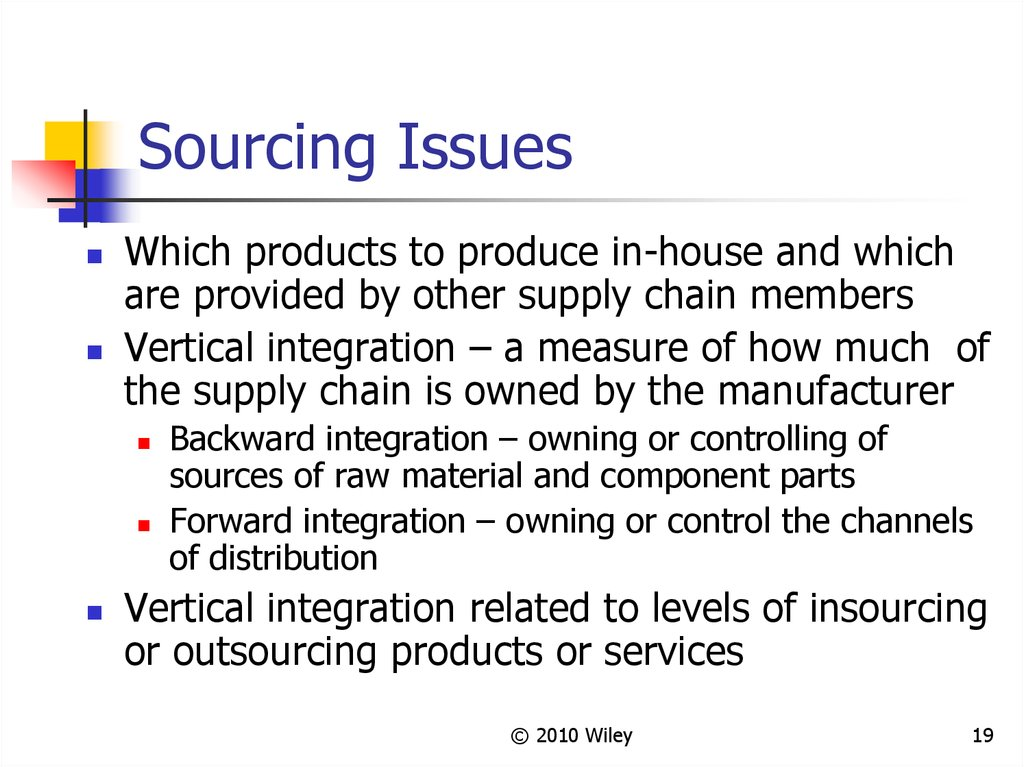 Sourcing Issues
