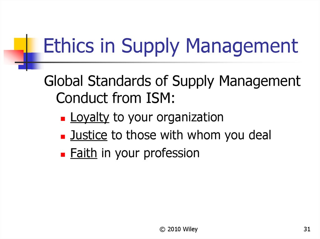 Ethics in Supply Management