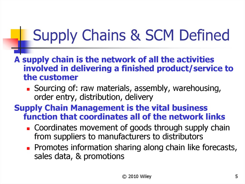 Supply Chains & SCM Defined