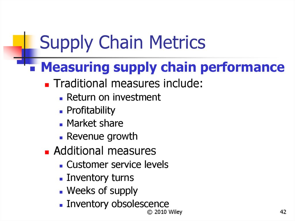 Supply Chain Metrics