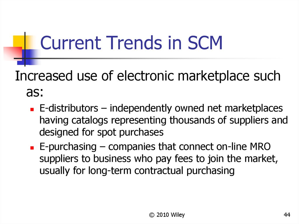 Current Trends in SCM