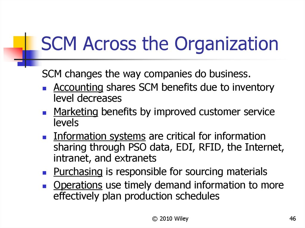 SCM Across the Organization