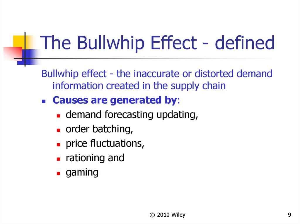 The Bullwhip Effect - defined