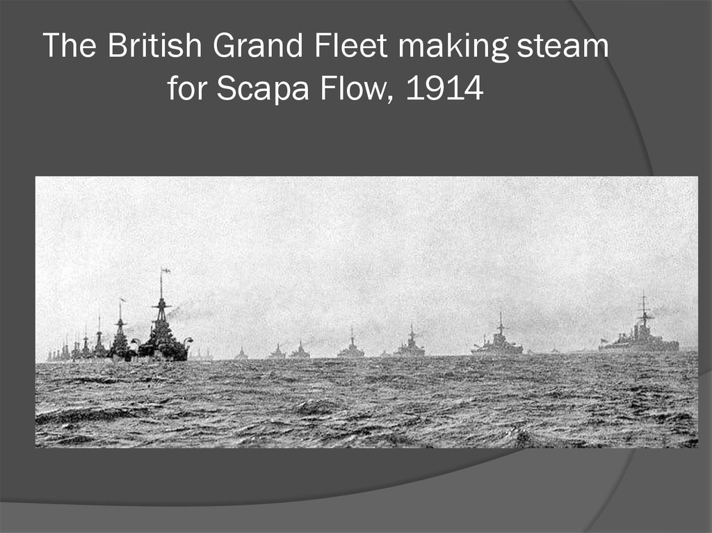The British Grand Fleet making steam for Scapa Flow, 1914