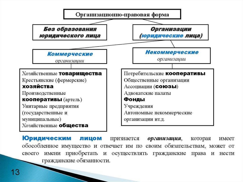 некоммерческие организации хозяйственные общества