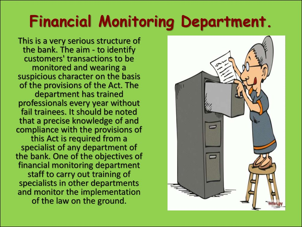 Financial Monitoring Department.