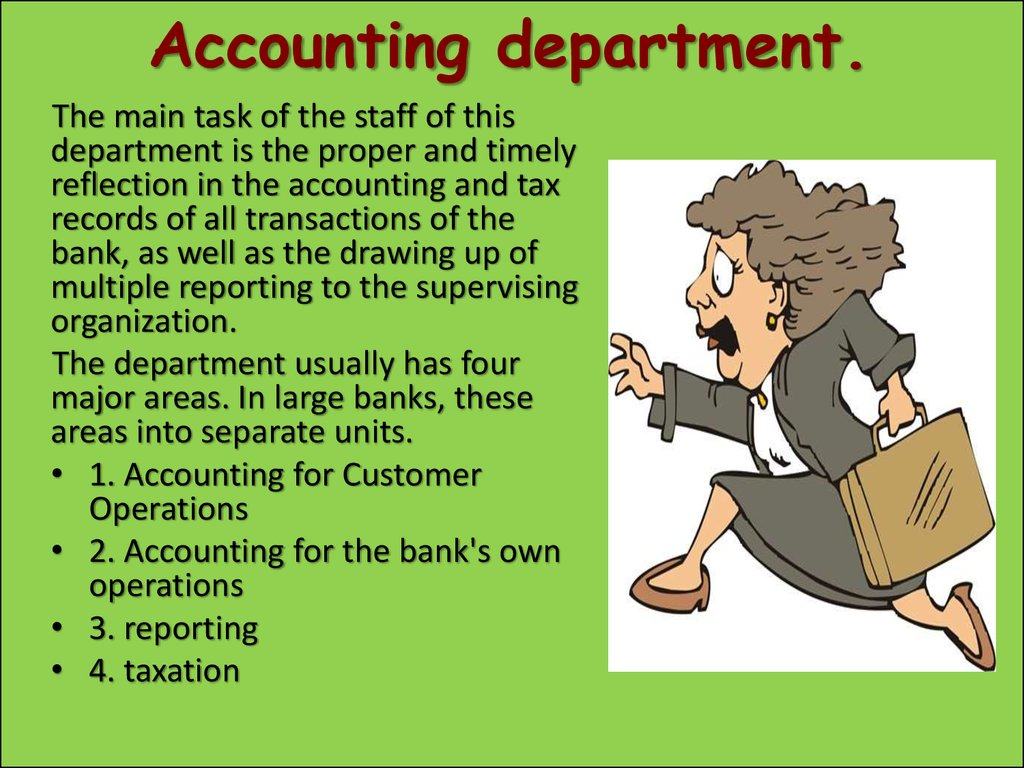 Accounting department.