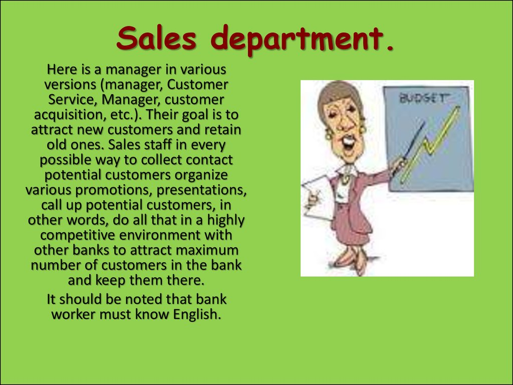 Sales department.