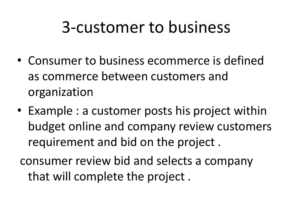 3-customer to business