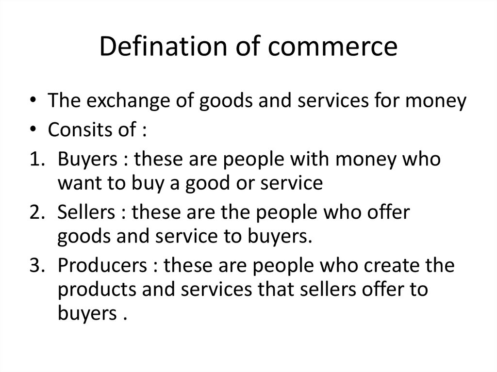 Defination of commerce