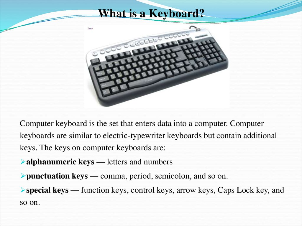 The Personal Computer and its devices - online presentation