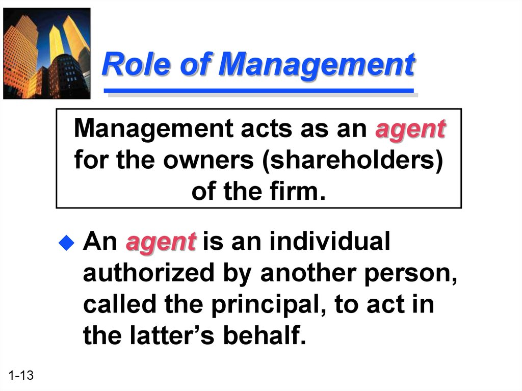 roles of key individuals and public The past, present and future roles of key players – by harry s pangas board of directors and to empower individuals who will be in a position to act on behalf of shareholders.