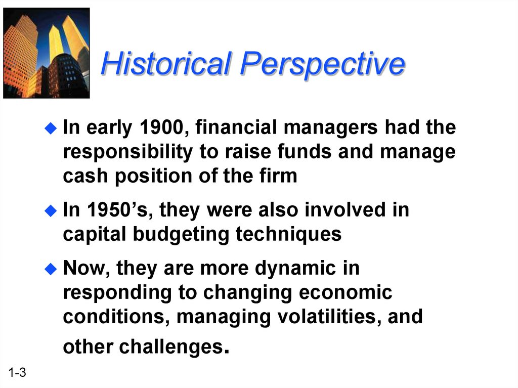 the role of finance management