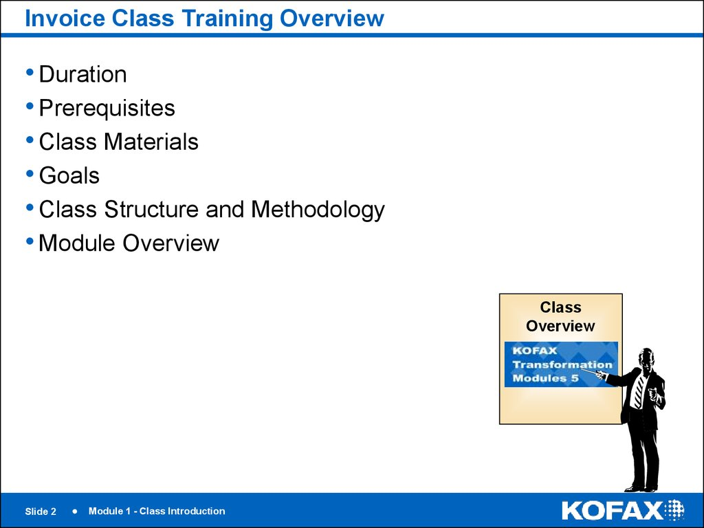 Invoice Class Training Overview