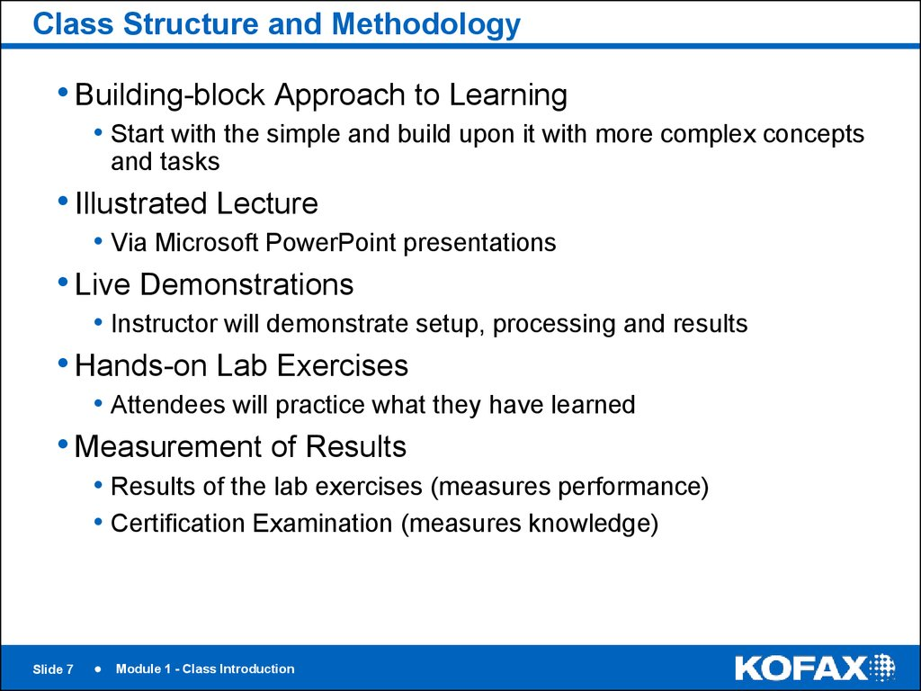 Class Structure and Methodology