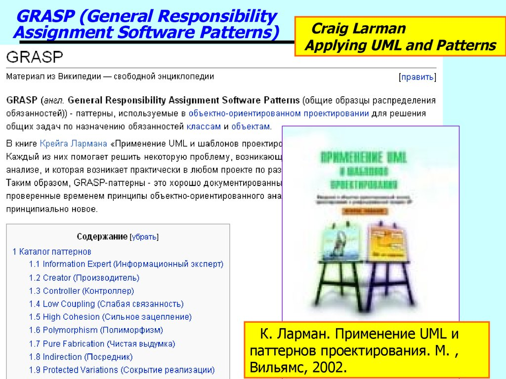 GRASP (General Responsibility Assignment Software Patterns)