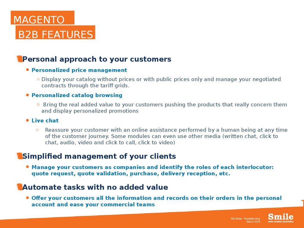 Your solution Magento - online presentation