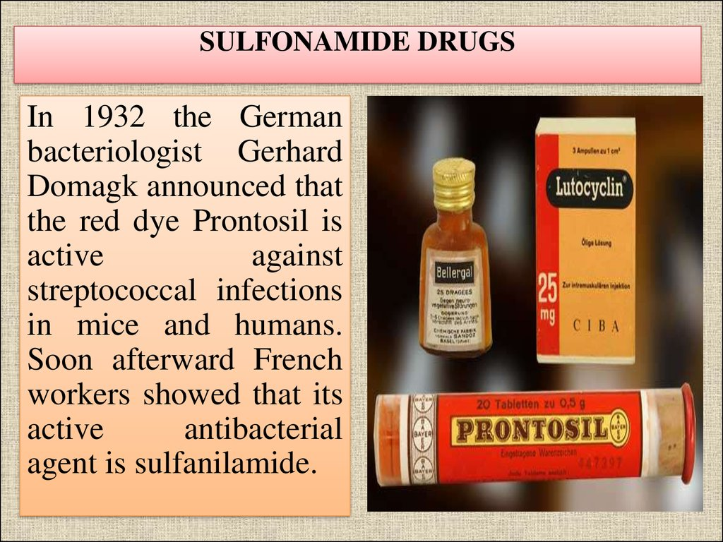 SULFONAMIDE DRUGS