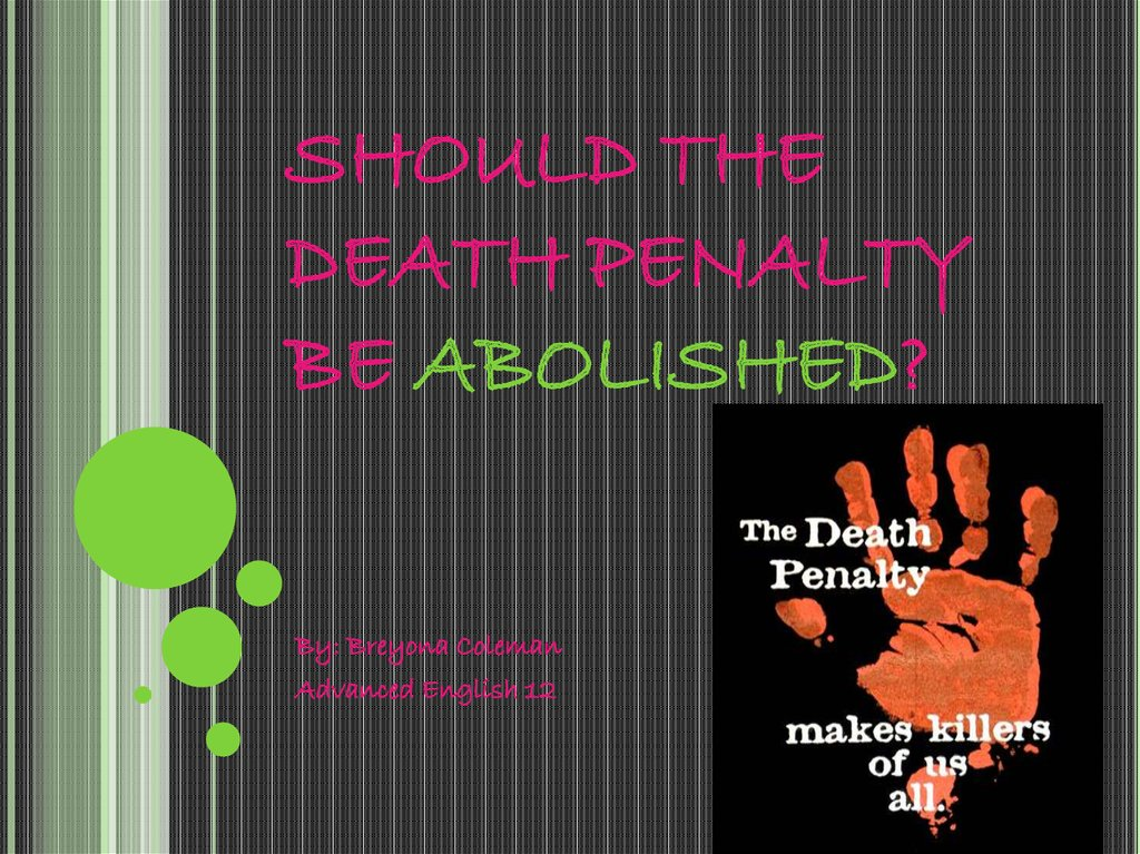 why the death penalty should be