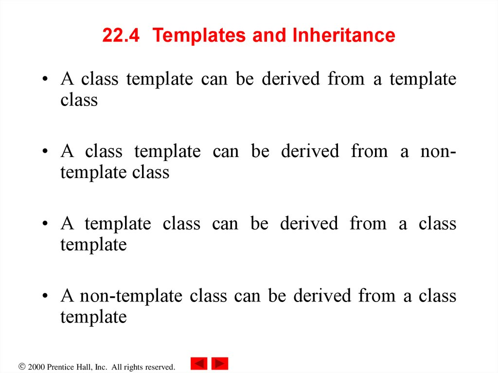 22.4 Templates and Inheritance
