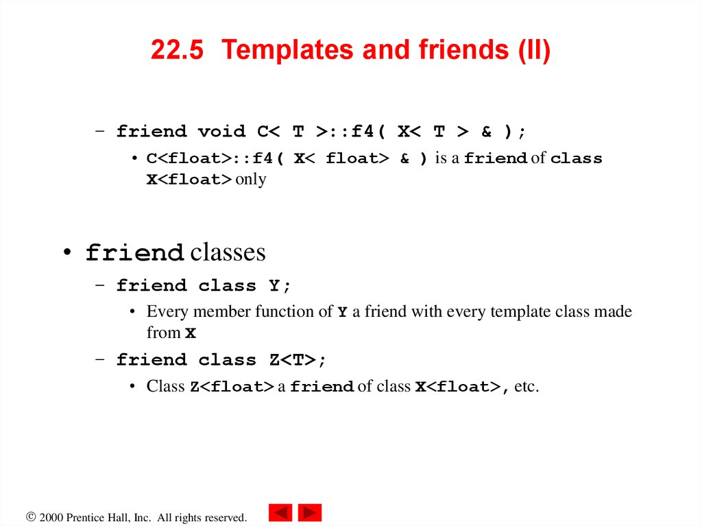 22.5 Templates and friends (II)