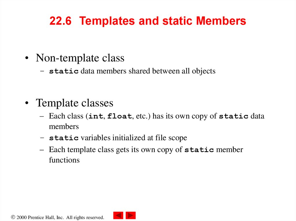 22.6 Templates and static Members