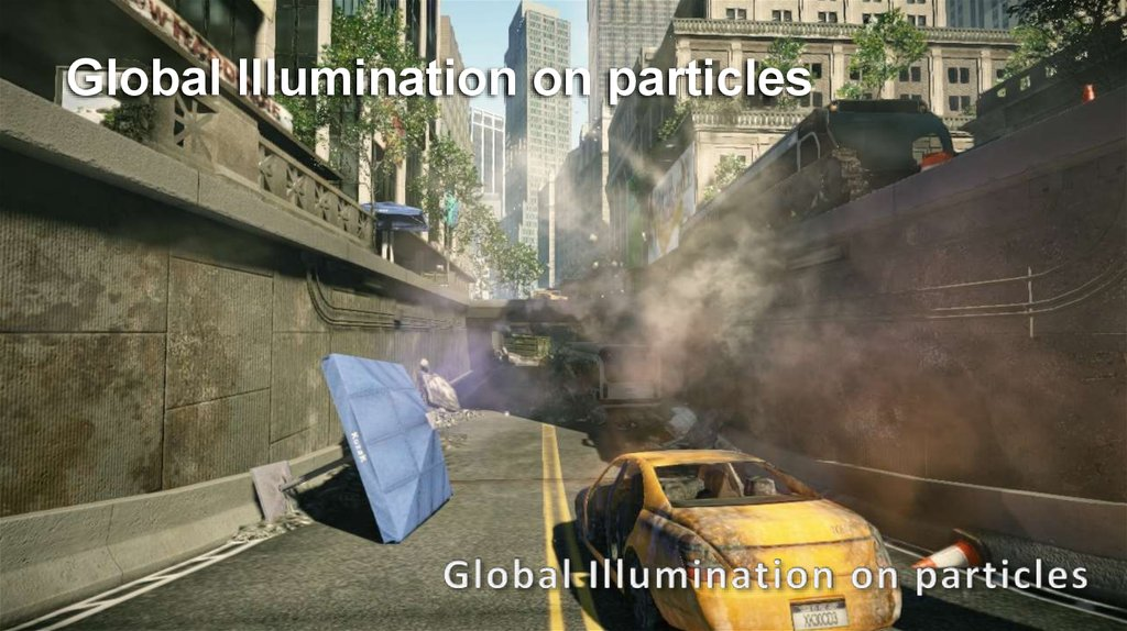 Global Illumination on particles