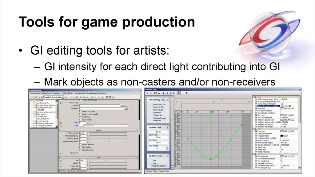 Tools for game production