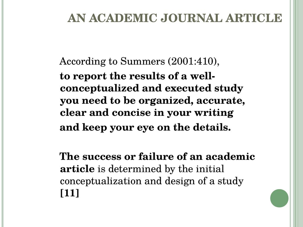 article for acadamic