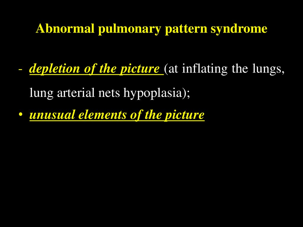 Abnormal pulmonary pattern syndrome