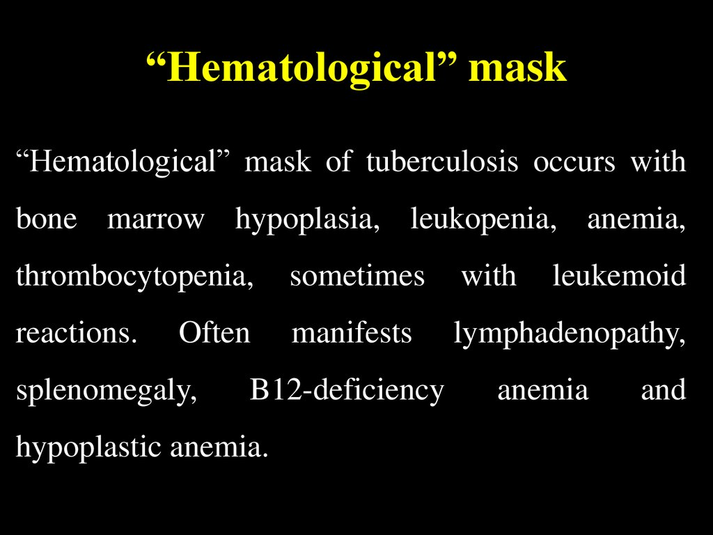 """Hematological"" mask"