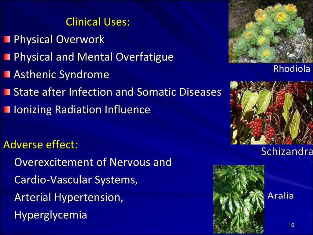 Psychostimulants, adaptogens, analeptics, antidepressants