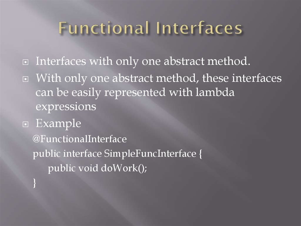 Functional Interfaces