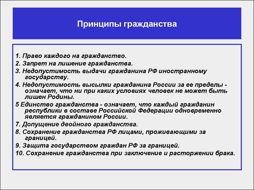 Законодательства развитие гражданстве российского шпаргалка о