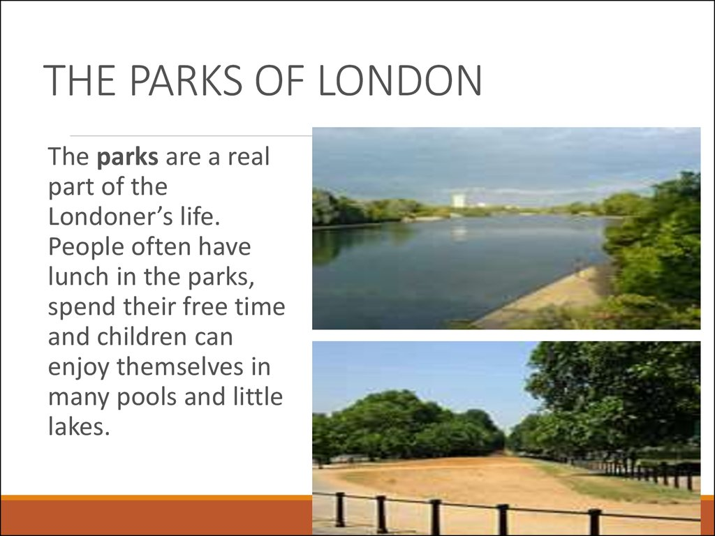 THE PARKS OF LONDON