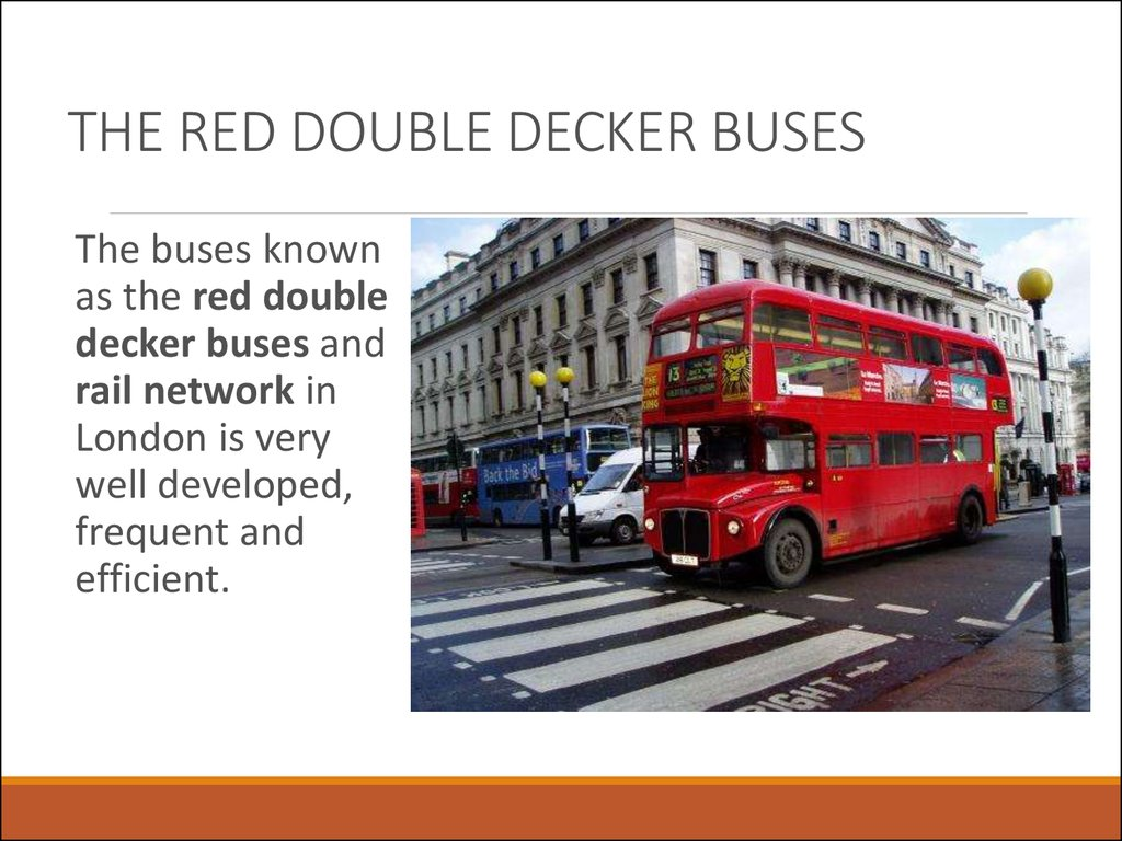 THE RED DOUBLE DECKER BUSES