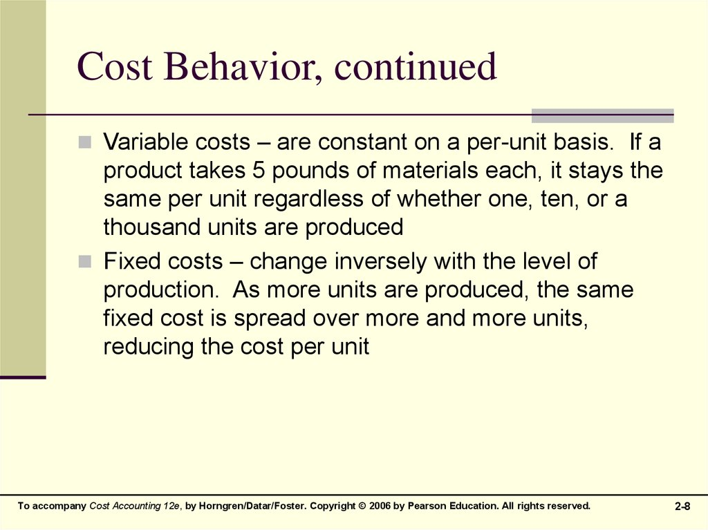 cost behaviour This video describes the way four different types of costs behave: variable, fixed, mixed and step for more help with accounting, please visit my website ht.