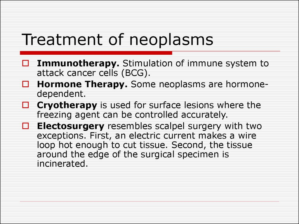 Treatment of neoplasms